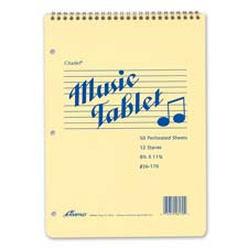 Ampad Perforated 3-Hole Punch Music Notebook