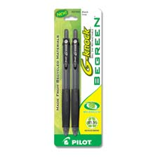 Pilot BeGreen G-Knock Retractable Gel Ink Pens