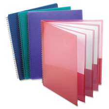 8-pocket folder,wire bind,letter,200 sh capacity,assorted, sold as 1 each