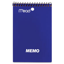 """Memo book, college ruled, 4""""x6"""", 40 sheets, assorted, sold as 1 each"""