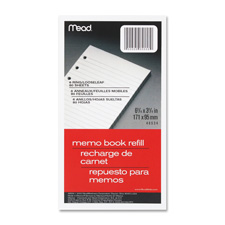 "Memo book refill,narrow ruled,bhp,5""x3"",80 sh,white, sold as 1 each"
