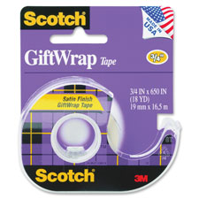 3M Scotch Satin Finish GiftWrap Tape