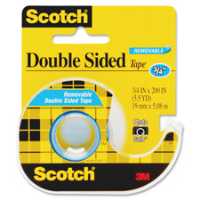 "Double-sided tape, removable, 3/4""x200"", transparent, sold as 1 roll"