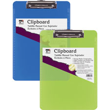 Charles Leonard Rubber Grip Plastic Clipboards