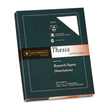 Southworth 25% Cotton Thesis Paper