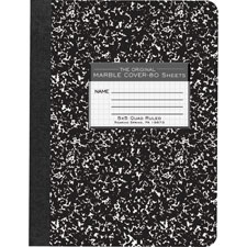"Composition book,quad ruled,5""x5"",80 sh,10-1/8""x7-7/8"",bk, sold as 1 each"