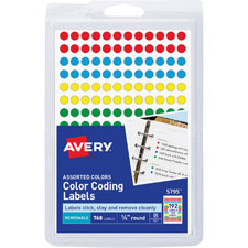 Avery Round Color-coding Removable Labels