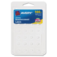 Avery Self-adhesive Reinforcement Labels