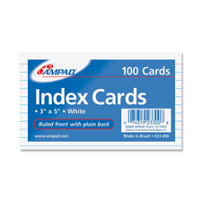 Ampad Ruled 3x5 Index Cards