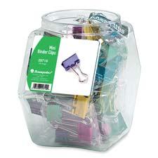 Baumgartens Mini Metallic Colored Bndr Clips Tubs