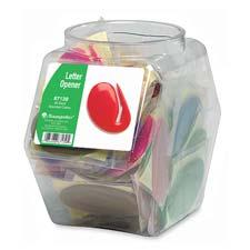 Baumgartens Tub of Asstd. Colors Letter Openers