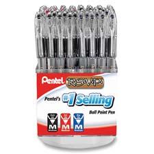 Pentel R.S.V.P. Med. Point Ballpoint Pens Display
