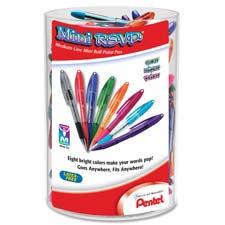Pentel R.S.V.P. Mini Ballpoint Pens Display