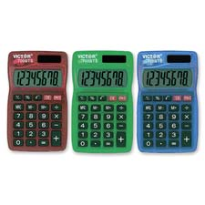 Handheld calculator,8-digit,dual powered,large lcd,assorted, sold as 1 each