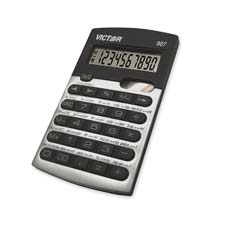 "Calculator, 10-digit, 2-5/8""x4-1/2""x3/8"", black/silver, sold as 1 each"