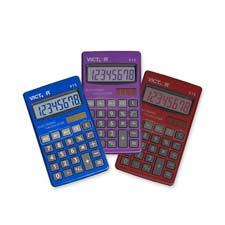 Victor 8-digit Compact Solar Pocket Calculator