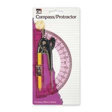 """Compass/protractor set, 12"""" compass, 6"""" plastic protractor, sold as 1 set, 12 carat per set"""