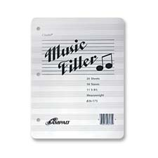 Ampad 3-Hole Punched Music Filler Paper