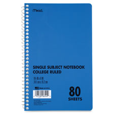 Mead 1-Subject College-ruled Notebooks