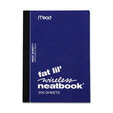 Mead Fat Lil' Wireless Neatbook Notebook