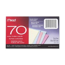Mead Double Ruled 3x5 Index Cards