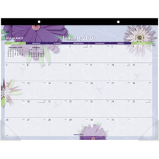 At-A-Glance 1PPM Floral Calendar Desk Pad