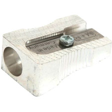 "Metal sharpener, for standard pencils, 1"" l, silver, sold as 1 package, 315 each per package"