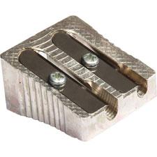 "Dual sharpener, 1"", metal, silver, sold as 1 each"