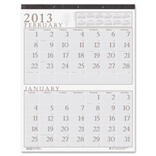 Doolittle Two Mths Per Page Classic Wall Calendars