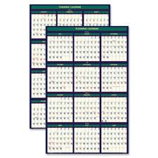 Doolittle Eco-friendly 18 Month Lam. Wall Calendar