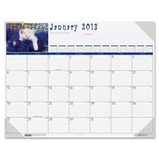 Doolittle Eco-friendly Kittens Calendar Desk Pad