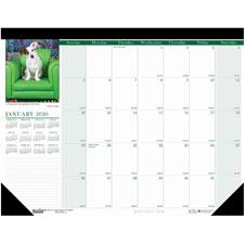 Doolittle Eco-friendly Puppies Calendar Desk Pad