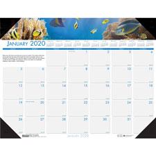 Doolittle Eco-friendly Sea Life Calendar Desk Pads