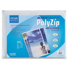 Itoya Polyzip Envelopes w/Zip Closure