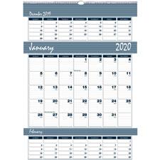 Doolittle Bar Harbor Triple Month Wall Calendar