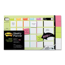 3M Post-it Undated Wkly Plner w/Super Sticky Notes