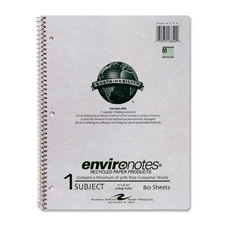 """Notebook paper, 1-sub, college ruled, 80/shts, 11""""x8-1/2"""",gy, sold as 1 each"""
