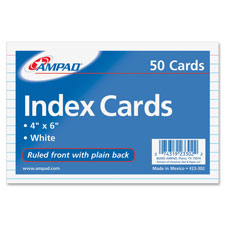 Ampad Ruled Front Index Cards