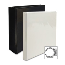"View binder, w/ 2 inside pockets, 3"" capacity, black, sold as 1 each"