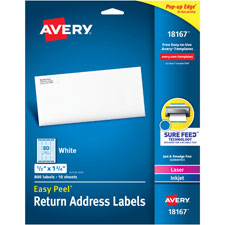 Avery Laser & Inkjet Return Address Labels