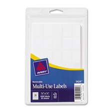 "Removable multipurpose labels,3/8""x5/8"",1008/pk,white, sold as 1 package, 1000 each per package"