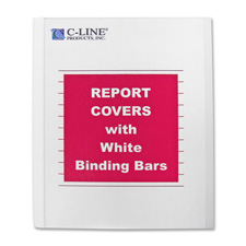 C-Line Report Covers w/ White Binding Bars
