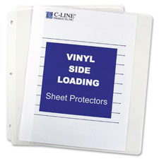 C-Line Side-loading Clear Vinyl Sheet Protectors