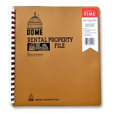 "Rental property file,w/ inside pockets,not dated,9-3/4""x11, sold as 1 each"