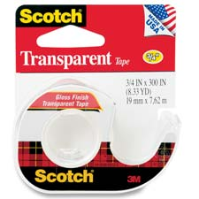 3M Scotch Gloss Finish Transparent Tape