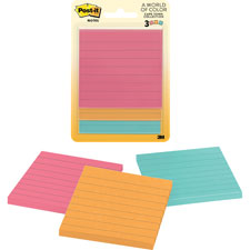"Post-it notes,lined,50/sheets,3""x3"",3/pk,jaipur/cape town, sold as 1 package"