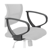 Safco Vue Extended Height Mesh Chair Loop Arms
