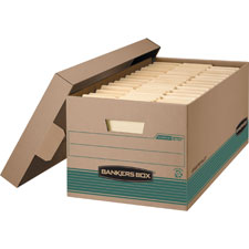 Fellowes Bankers Box Recy Stor/File Boxes w/ Lids