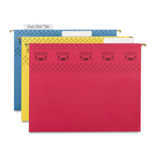 Smead TUFF Easy Slide Tabs Colored Hanging Folders