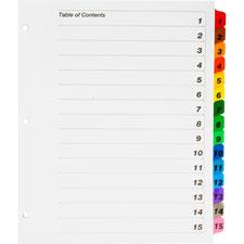 Kleer-Fax Binder Index Dividers